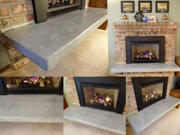 Concrete Hearth Update, Single Girls DIY