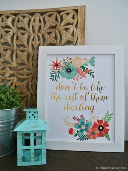 Dont Be Like The Rest Of Them, Free Printable Instant Download Home Decor Wall Art Print #remodelaholic