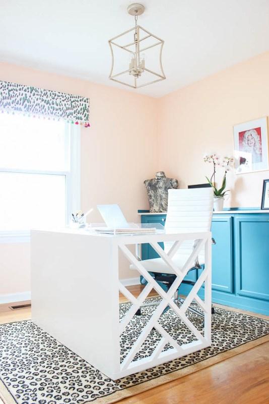 Home Office Makeover DIY Desk, Rain On A Tin Roof