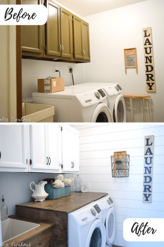 Laundry Utility Sink Makeover, Timeless Creations