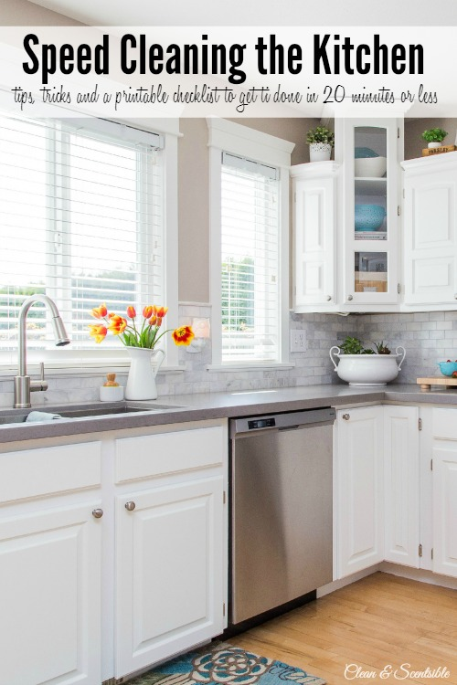Tips For Speed Cleaning A Kitchen, Clean And Scentsible