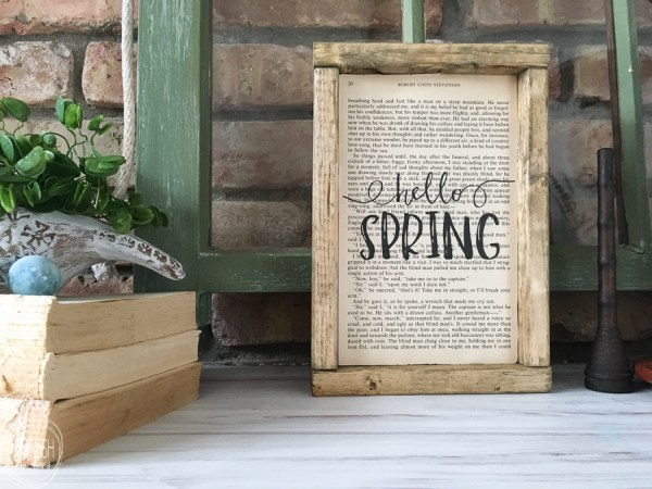 Vintage Farmhouse Spring Mantel, Refresh Living