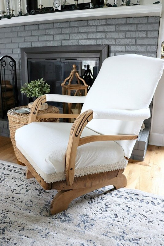 Vintage Rocking Chair Makeover, Noting Grace