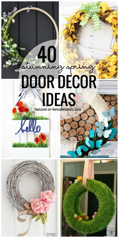 Dress Up Your Front Door For Spring! 40 Stunning Spring Door Decor Ideas Featured On Remodelaholic.com
