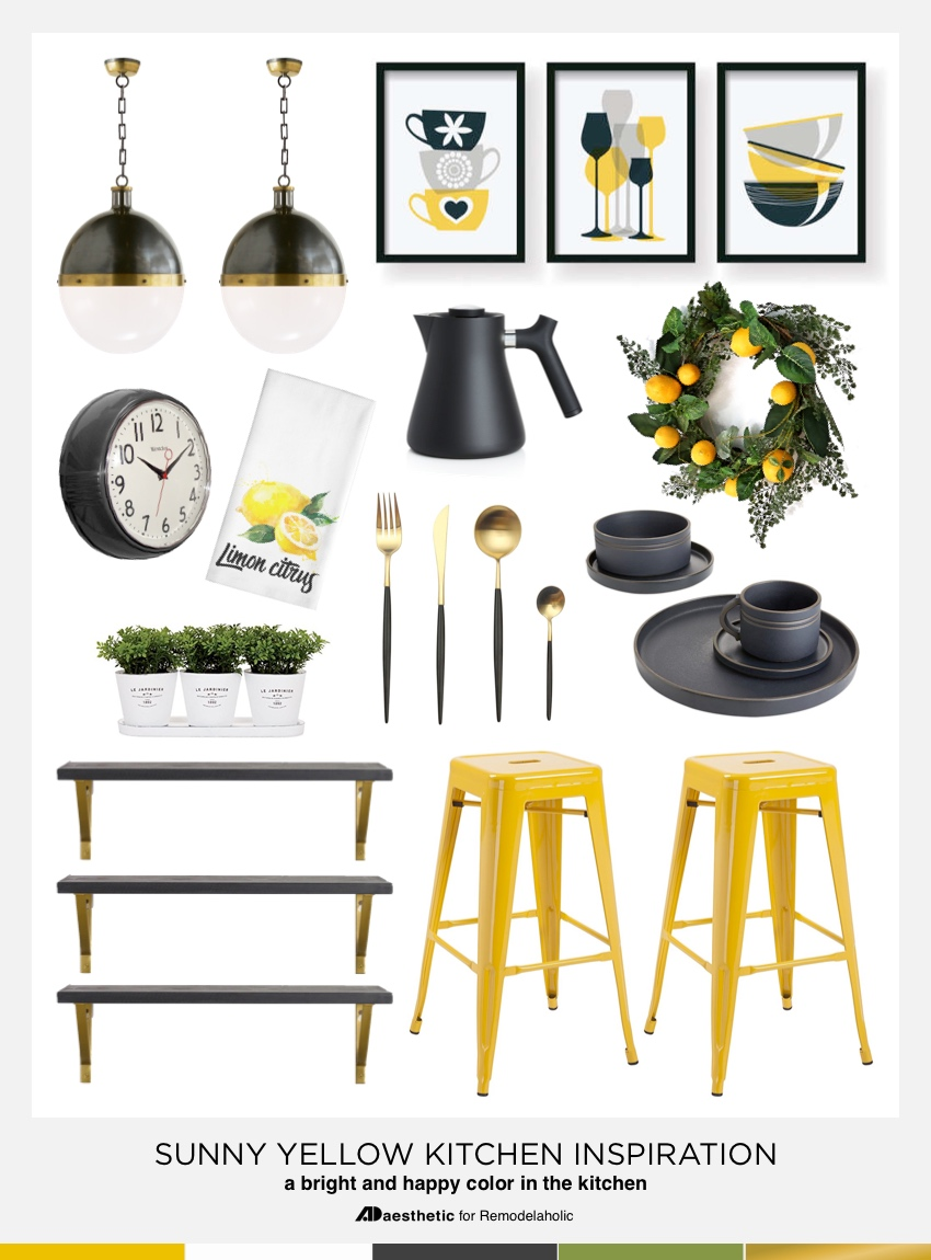 Tips for Decorating a Sunny Yellow Kitchen #remodelaholic