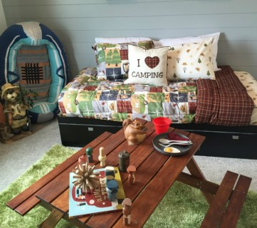 Get This Look: Outdoors Camping Theme Kids' Bedroom
