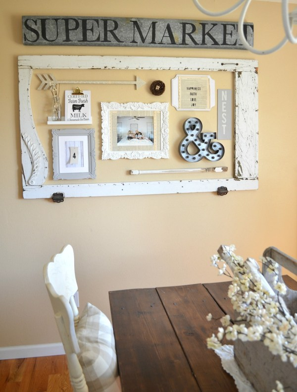 Dining Room Farmhouse Gallery Wall, Little Vintage Nest