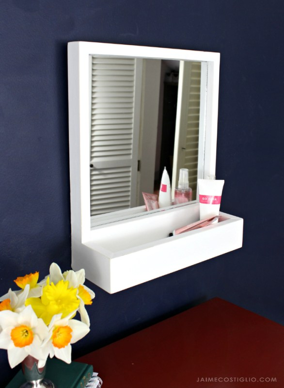 Easy Diy Build Storage Mirror Jaime Costliglio
