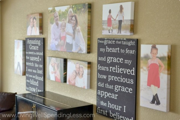 Family Photo Canvas Gallery Wall, Living Well Spending Less