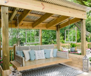 Porch Swing Shed With Daybed, House Plus Love