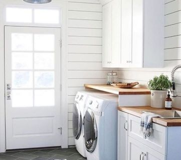 Create a Farmhouse Laundry Room On a Budget