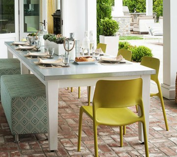 Get This Look: Global Inspired Outdoor Dining Space
