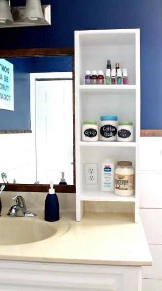 DIY Bathroom Vanity Shelf
