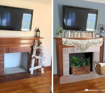 Featured Image | Decorating Around a TV Over a Fireplace