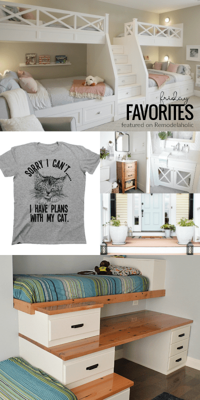 Friday Favorites Small Bathrooms And Shared Kids Rooms #remodelaholic