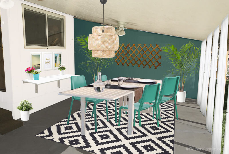 Outdoor Dining Room With IKEA Furniture @Remodelaholic 14