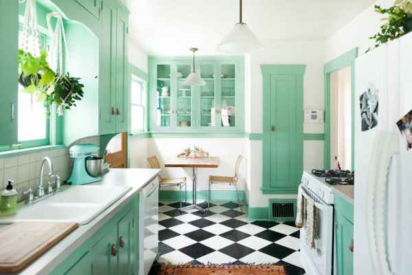 Remodelaholic Color Files Jade Green Kitchen 1