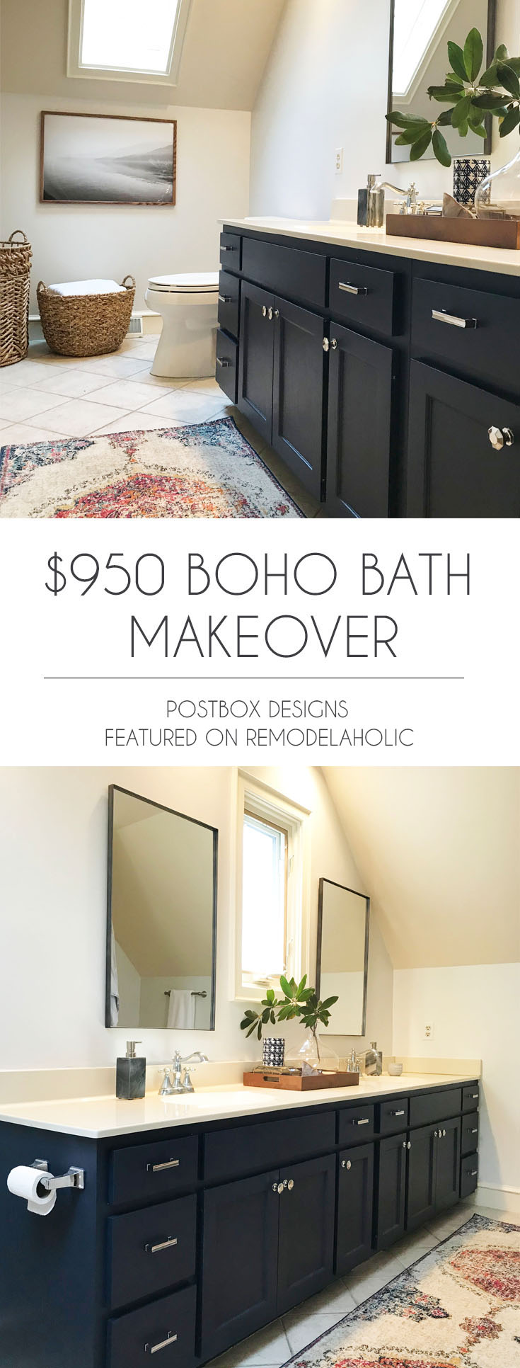 Budget-Friendly Master Bathroom Makeover | Update your bathroom with these affordable product picks and tips #remodelaholic