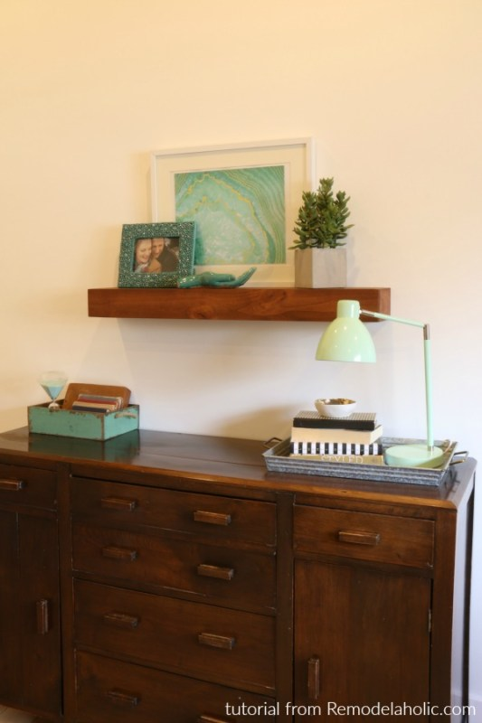 Easy Diy Floating Shelf Building Plan And Tutorial #remodelaholic