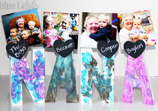 Easy Mother's Day Letter Photo Holders, BlueIStyle