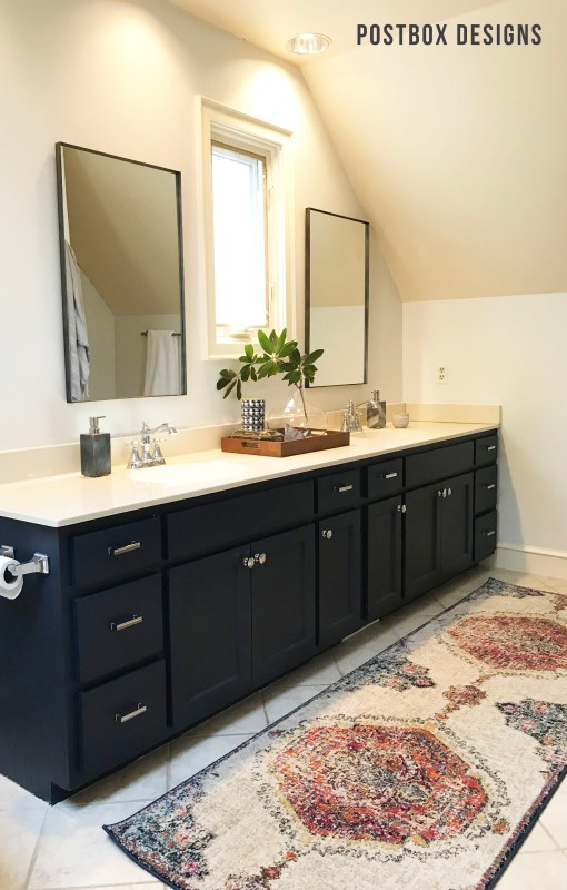 Postbox Designs: My $950 Budget Bathroom Makeover
