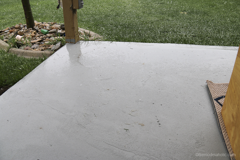 Painting A Patio With UGL Epoxy Floor Paint @Remodelaholic 39