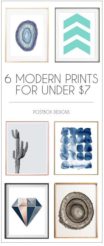 Postbox Designs: 6 Tips to Decorating with Color in your Living Room Design, 6 Budget Modern Artwork Prints