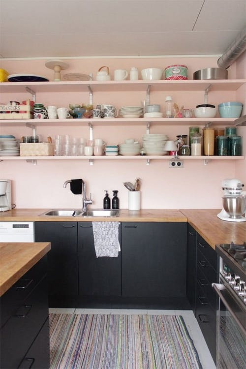 Millennial Pink: How to Decorate and Accent Your Home Decor | Millennial Pink Apartment Therapy Kitchenfeatured on #Remodelaholic #colorfiles
