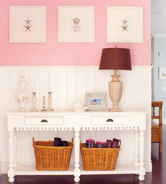 Millennial Pink: How to Decorate and Accent Your Home Decor | Millennial Pink BHG Entryway featured on #Remodelaholic #colorfiles