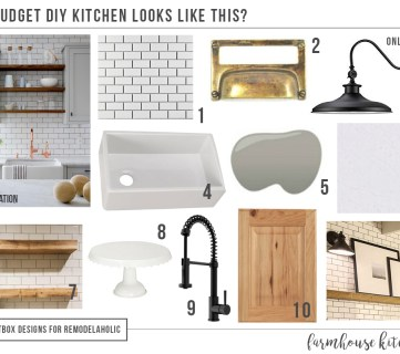 How to Design a Budget Kitchen + Island, Farmhouse Style