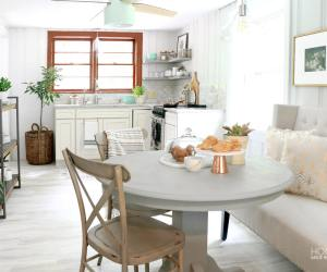 Small Contemporary Cottage Styled Kitchen