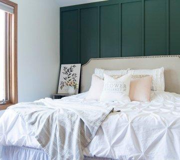 Bedroom Board And Batten Accent Wall Www.graceinmyspace.com