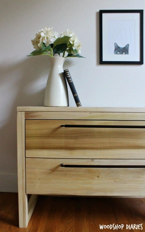 DIY Modern Nightstand Left Side