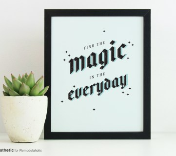 Free Printable: Find the Magic in the Everyday