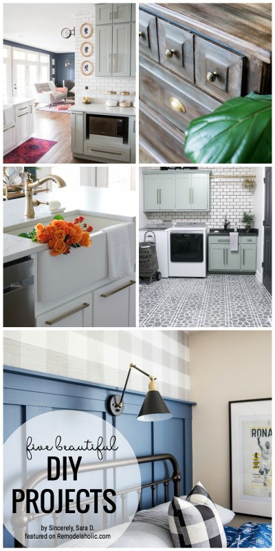 Get Inspired With These Gorgeous Projects. 5 Beautiful DIY Projects Created By Sincerely, Sara D. Featured On Remodelaholic.com