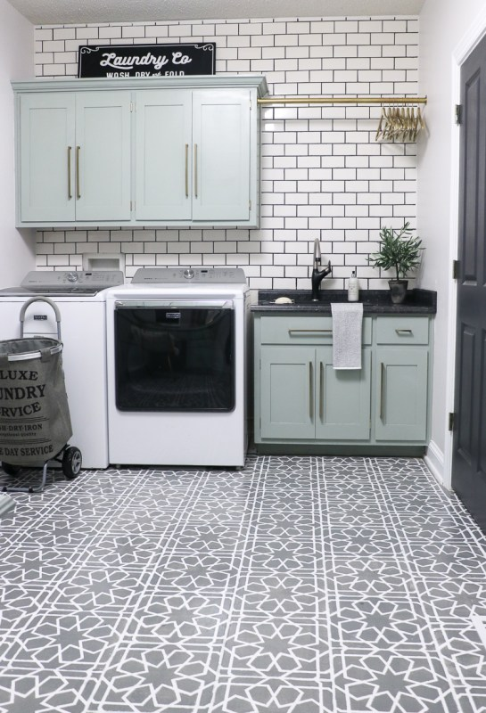 Laundry Room Makeover Subway Tile 2 Sincerely Sara D