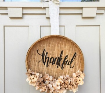 DIY Basket Wreath For Thanksgiving 7