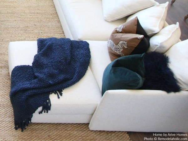 Throw Pillows And Blankets Add Texture And Coziness, Arive Homes And Brandalyn Dennis Design, 2018 Utah Valley Parade Of Homes, Featured On Remodelaholic