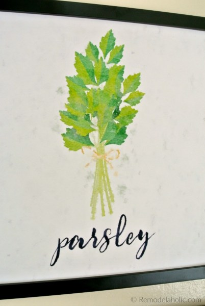 Free Parsley Kitchen Herb Printable Set Of 4 Watercolor Herb Art Prints Digital Download #remodelaholic