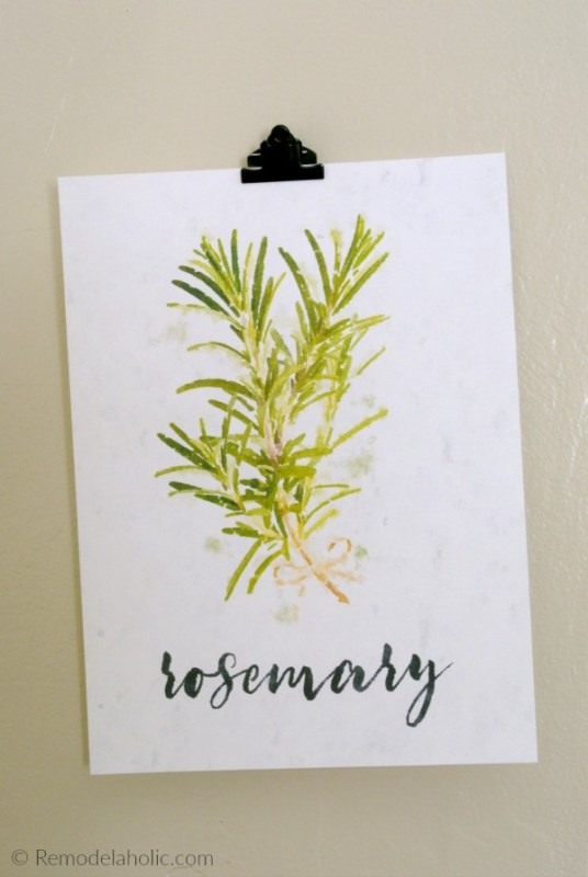 Free Printable Watercolor Herb Kitchen Art Set Digital Download #remodelaholic