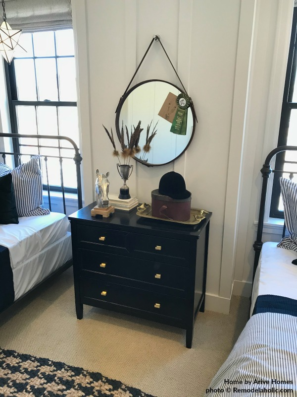 Modern And Cozy Kids Bedroom In Black And Gold, Arive Homes And Brandalyn Dennis Interior Design, 2018 Utah Valley Parade Of Homes, @Remodelaholic