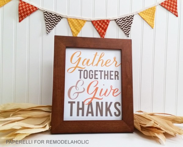Thanksgiving Art Printable By Paperelli