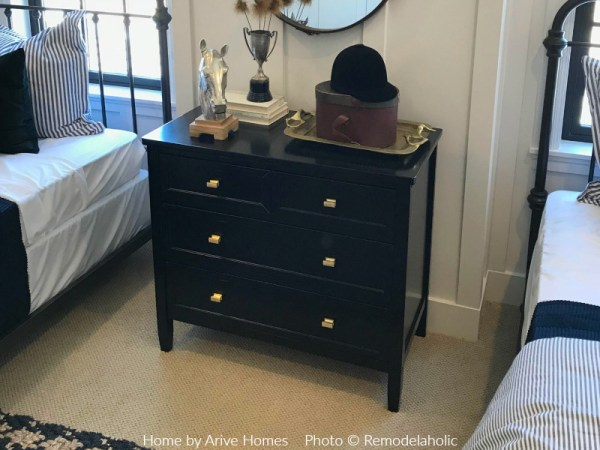 Black Dresser Nightstand In Equestrian Themed Boys Bedroom, Arive Homes And Brandalyn Dennis Design, 2018 Utah Valley Parade Of Homes, Featured On Remodelaholic