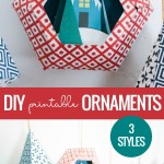 3D Paper Ornament Templates With Printable Ornaments In Geometric Shapes Baubles Snowglobe #remodelaholic