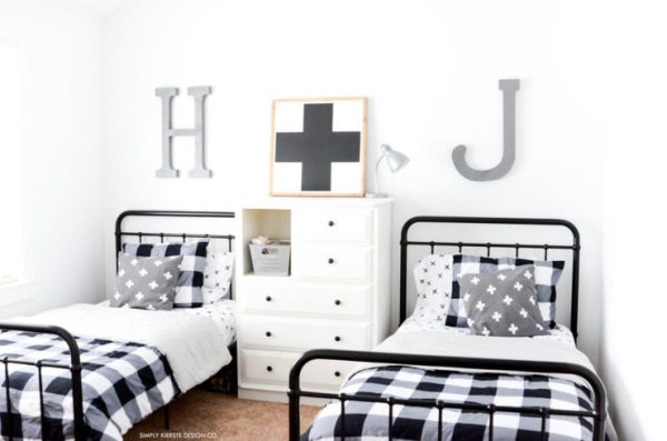 Black Buffalo Check Boys Bedroom Makeover 33 2 Small Logo 740x490