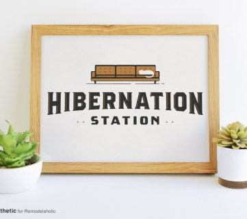 Free Printable Graphic Hibernation Station AD Aesthetic For Remodelaholic Horizontal