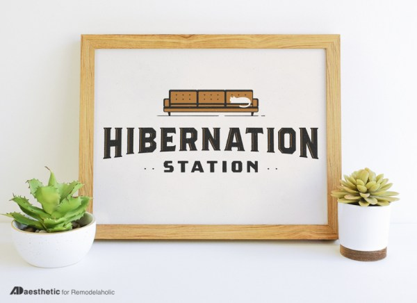 Winter Printable Graphic Hibernation Station AD Aesthetic For Remodelaholic