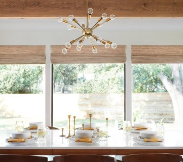 Get This Look Mid Century Modern Dining Room From The Safe Gamble House On Fixer Upper