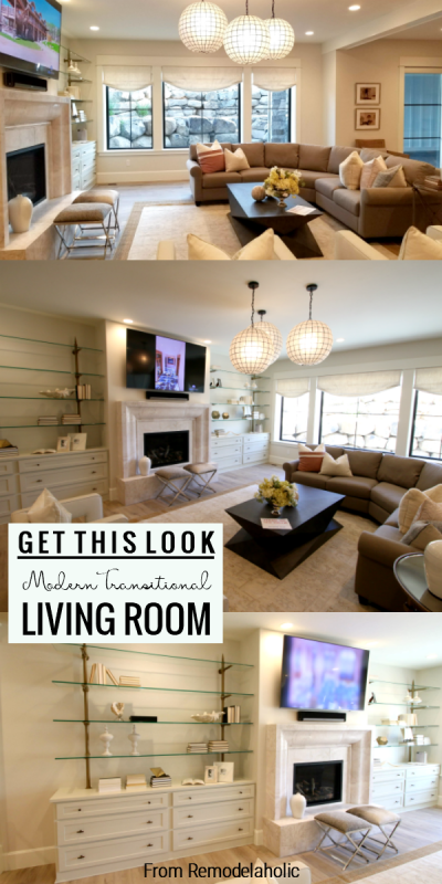 Modern Transitional Living Room, Get This Look From Remodelaholic
