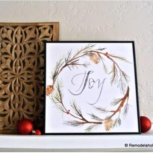 Printable Seasonal Watercolor Art Set For Easy Holiday Decorating